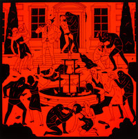 Cleon Peterson (American, b. 1973) End of Empire, 2015 Screenprint in colors on Coventry paper 27-3/4 x 27-3/4 inches