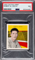 Baseball Cards:Singles (1930-1939), 1933 R305 Tattoo Orbit Lefty Grove PSA NM 7 - Only Two Higher. ...