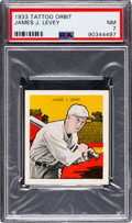 Baseball Cards:Singles (1930-1939), 1933 R305 Tattoo Orbit James Levey PSA NM 7 - Only One Higher. ...