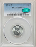 Lincoln Cents, 1943-S 1C MS67+ PCGS. CAC. PCGS Population: (2069/98). NGC Census:(2491/45). CDN: $175 Whsle. Bid for problem-free NGC/PCG...