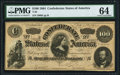 Confederate Notes:1864 Issues, T65 $100 1864 PF-3 Cr. 494 PMG Choice Uncirculated 64.. ...