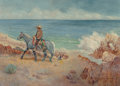 Paintings, Robert Farrington Elwell (American, 1874-1962). Vaquero on the Shore. Oil on canvas. 26 x 36 inches (66.0 x 91.4 cm). Si...
