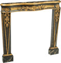 Furniture , A Painted and Partial Gilt Pine Fireplace Surround, late 19th century. 39-1/4 x 41-1/2 x 5 inches (99.7 x 105.4 x 12.7 cm). ...