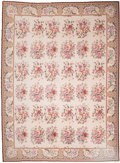 Furniture : Continental, A Large Aubusson Carpet with Floral Motif. 133 x 111 inches (337.8 x 281.9 cm). ...