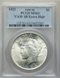 Peace Dollars, 1923 $1 Extra Hair, VAM-1B, MS63 PCGS. A Top 50 Variety. PCGS Population: (57/47). MS63....
