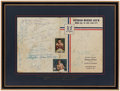 Autographs:Others, 1955 Veteran Boxers Association Multi-Signed Display with Rocky Marciano....