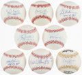 Autographs:Baseballs, Baseball Greats Single Signed Baseballs Lot of 8. ...