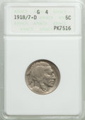 Buffalo Nickels: , 1918/7-D 5C Good 4 ANACS. CDN: $550 Whsle. Bid for problem-freeNGC/PCGS Good 4 . Mintage 8,362,000. ...