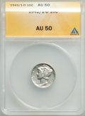Mercury Dimes: , 1942/1-D 10C AU50 ANACS. CDN: $725 Whsle. Bid for problem-freeNGC/PCGS AU50. Mintage 60,740,000. ...