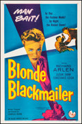 """Movie Posters:Crime, Blonde Blackmailer (Allied Artists, 1958). Very Fine+ on Linen. OneSheet (27"""" X 41.25""""). Crime.. ..."""