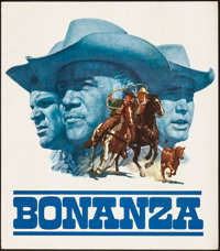 """Bonanza (NBC, 1966). Rolled, Very Fine-. Special Television Poster (21"""" X 24"""") James Bama Artwork. Western..."""