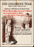 """Movie Posters:War, Health Poster (National Child Welfare Association, 1910s). Rolled, Fine/Very Fine. Poster (20.5"""" X 27.5""""). War.. ..."""
