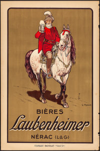 """Laubenheimer (1920). Rolled, Fine/Very Fine. French Advertising Poster (31.5"""" X 47"""") Georges Ripart Artwork. M..."""