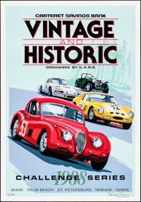 """Vintage and Historic Challenge Series 1988 (1988). Rolled, Near Mint. Autographed and Numbered Art Print (20.75"""" X..."""