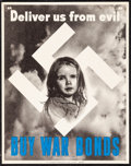 """Movie Posters:War, World War II Propaganda (U.S. Government Printing Office, 1943).Very Fine. Poster (11"""" X 14"""") """"Deliver Us from Evil, Buy Wa..."""