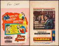 """Movie Posters:Crime, Vice Squad & Other Lot (United Artists, 1953). Fine+. TrimmedWindow Card & Window Cards (2)(Approx. 14"""" X 22""""). Crime.. ...(Total: 3 Items)"""
