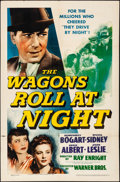 "Movie Posters:Drama, The Wagons Roll at Night (Warner Brothers, 1941). Folded, Fine/VeryFine. One Sheet (27"" X 41""). Drama.. ..."