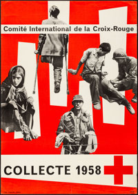 """Red Cross (1958). Rolled, Fine/Very Fine. Advertising Poster (35.25"""" X 50""""). Miscellaneous"""