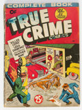 Golden Age (1938-1955):Crime, Complete Book of True Crime Comics #nn (Wm. H. Wise & Co., 1945) Condition: GD....