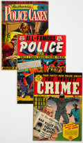 Golden Age (1938-1955):Crime, Golden Age Crime Comics Group of 4 (Various Publishers, 1950s) Condition: Average VG-.... (Total: 4 Comic Books)