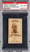 Baseball Cards:Singles (Pre-1930), 1887-90 N172 Old Judge Charles Comiskey - Brown's Champions (#86-1) PSA EX-MT 6. . ...