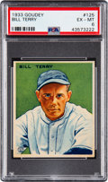 Baseball Cards:Singles (1930-1939), 1933 Goudey Bill Terry #125 PSA EX-MT 6....