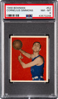 Basketball Cards:Singles (Pre-1970), 1948 Bowman Cornelius Simmons #52 PSA NM-MT 8 - Only Two Higher....