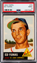 Baseball Cards:Singles (1950-1959), 1953 Topps Ed Yuhas #70 PSA Mint 9 - None Higher....