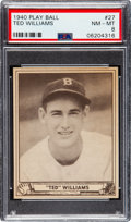 Baseball Cards:Singles (1940-1949), 1940 Play Ball Ted Williams #27 PSA NM-MT 8....