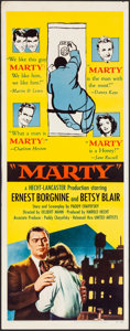 "Movie Posters:Drama, Marty (United Artists, 1955). Folded, Very Fine-. Insert (14"" X36""). Drama.. ..."