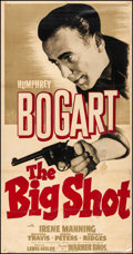 """Movie Posters:Crime, The Big Shot (Warner Brothers, 1942). Very Good/Fine on Linen. Three Sheet (41"""" X 78""""). Crime.. ..."""