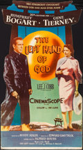 "Movie Posters:Drama, The Left Hand of God (20th Century Fox, 1955). Folded, Fine/VeryFine. Standee (32.5"" X 58.5""). Drama.. ..."