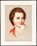 """Movie Posters:Miscellaneous, Sylvia Sidney by Ed Dow (c.1930s). Very Fine/Near Mint. ChalkPastel on Sketch Paper (16"""" X 20""""). Miscellaneous.. ..."""