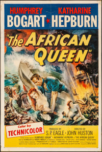 """The African Queen (United Artists, 1952). Very Good/Fine on Cardboard. Trimmed One Sheet (27"""" X 40""""). Adventur..."""