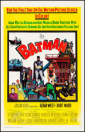 "Movie Posters:Action, Batman (20th Century Fox, 1966). Fine/Very Fine on Linen. One Sheet(26.75"" X 42""). Action.. ..."