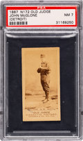 Baseball Cards:Singles (Pre-1930), 1887-90 N172 Old Judge John McGlone (#311-5 Detroit) PSA NM 7. ...