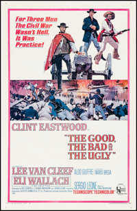 "The Good, the Bad and the Ugly (United Artists, 1968). Fine on Linen. One Sheet (26.75"" X 41.5""). Western"