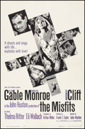 """Movie Posters:Drama, The Misfits (United Artists, 1961). Fine/Very Fine on Linen. OneSheet (27"""" X 41.25""""). Drama.. ..."""
