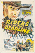 "Movie Posters:Western, Riders of the Deadline & Other Lot (Variety Film, R-1940s).Fine/Very Fine on Linen. One Sheets (2) (27"" X 41""). Western.. ...(Total: 2 Items)"