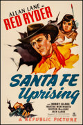 "Movie Posters:Western, Santa Fe Uprising & Other Lot (Republic, 1946). Overall:Fine/Very Fine on Linen. One Sheets (2) (27"" X 41"") & HalfSheet (2... (Total: 3 Items)"