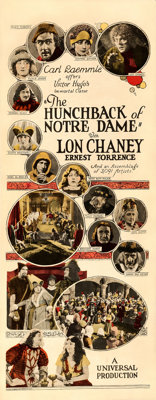 """The Hunchback of Notre Dame (Universal, 1923). Fine/Very Fine on Paper. Insert (14"""" X 36"""")"""