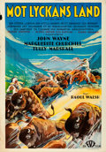 "Movie Posters:Western, The Big Trail (Fox, 1931). Rolled, Fine/Very Fine. Swedish OneSheet (27.5"" X 39.5"").. ..."