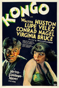 "Movie Posters:Horror, Kongo (MGM, 1932). Very Good/Fine on Linen. One Sheet (27"" X40.75"") Style C.. ..."