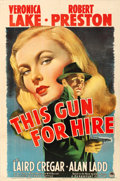 "Movie Posters:Film Noir, This Gun for Hire (Paramount, 1942). Very Fine- on Linen. One Sheet (27"" X 41"").. ..."