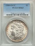 1900-O/CC $1 MS63 PCGS. PCGS Population: (1868/3078). NGC Census: (799/975). CDN: $575 Whsle. Bid for problem-free NGC/P...