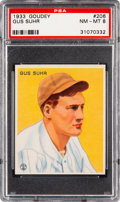 Baseball Cards:Singles (1930-1939), 1933 Goudey Gus Suhr #206 PSA NM-MT 8- Only Two Higher. ...