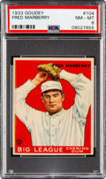 Baseball Cards:Singles (1930-1939), 1933 Goudey Fred Marberry #104 PSA NM-MT 8 - Only One Higher. ...