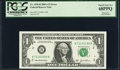 Mismatched Serial Numbers Fr. 1930-B $1 2003A Federal Reserve Note. PCGS Superb Gem New 68