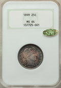 Barber Quarters: , 1899 25C MS64 NGC. Gold CAC. NGC Census: (77/24). PCGS Population: (64/45). MS64. Mintage 12,624,846. ...