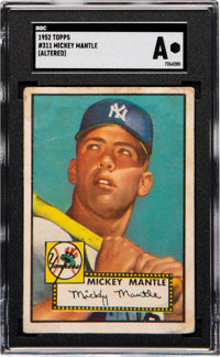 1952 Topps Mickey Mantle #311 SGC Authentic-Altered